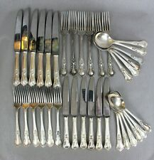 """Fabulous vintage silver plated Rogers """"Countess"""" 36 pc CUTLERY SET for 6."""
