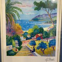Impressionism Paris Lithograph Print Artist Jean Claude  Picot Art