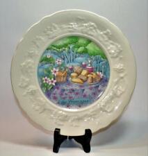 "GIEN FRANCE Porcelain LES FROMAGES 8 1/2""d Set 6 Plates by Marie-Pierre Boitard"