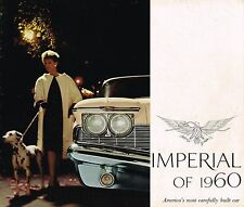 1960 CHRYSLER IMPERIAL Brochure / Catalog w/ Specs: LeBARON,CROWN,Convertible,