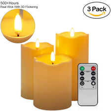 3 Pack LED Flickering Candle Light with Remote& Timer Christams Halloween Decor