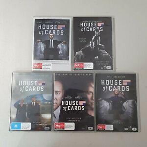 House of Cards Season 1 2 3 4 6 DVD, Region 4, Missing Season 5