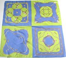 Basler Equestrian / Golf  Silk scarf - Green / Iris Blue - Large