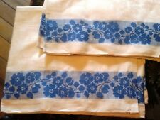 VINTAGE SOFT 100% LINEN FLAX TOWEL JACQUARD Made in Europe NEW
