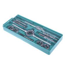 12pcs Quality Hardened Metric Tap/Die Set Screw Thread Taper Drill Tools Kit