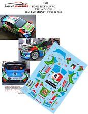 DECALS 1/24 REF 1568 FIESTA WRC VILLA RALLYE MONTE CARLO 2018 RALLY