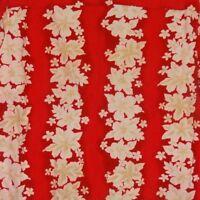 Aloha Shirt Hawaiian Hibiscus Flowers Red Cream Size XL Cherokee