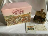 "SIGNED David Winter Cottages ""Plum Cottage"" 1993 w/ Box Christmas Village Figure"