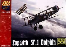 "1918 Kit CSM 1//48 n° 1026 AVION DE CHASSE BRITANNIQUE SOPWITH 5F.1 /""DOLPHIN/"""