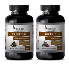 Rejuvenation enzyme - GRAPE SEED EXTRACT - ACAI BERRY COMBO 2B - acai fiber pill