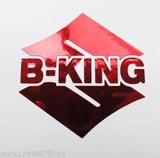 B King Rojo Cromo pegatinas a medida Gráficos 70mm x 70mm
