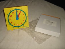 NEW TEACH TELLING TIME STUDENT CLOCK FOR CLASSROOM/HOME SCHOOLING #MAC004