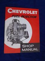 CHEVROLET FUEL INJECTION SHOP MANUAL 1956 CAR AUTO REPAIR SERVICE INSTRUCTION