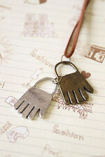 Two Tone Hands novelty necklace cute fashion accessory kitsch boho chic style