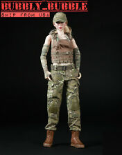 1/6 Women Soldier Combat Clothing For Phicen Hot Toys Kumik Female SHIP FROM USA