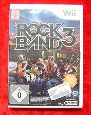 RockBand 3, Rock Band, Nintendo Wii Spiel, Neu, deutsche Version