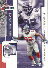 Rare 2001 Fleer Game Time Michael Strahan #55 Card