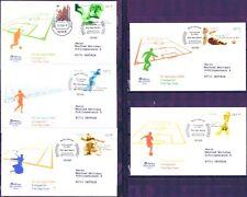BRD 2004: Sport! FDC der Nr 2382-2386 mit Berliner Sonderstempeln! Gelaufen! 155