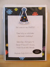 """NEW Hallmark """"Party Time"""" 10 Personalized Printable Cards Invitation Kit"""