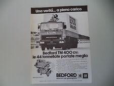 advertising Pubblicità 1979 BEDFORD TM 400 CV