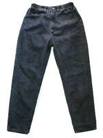 Lee Women's Mummy Style Black Denim Jeans Size 8