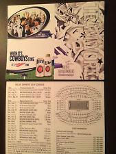 Dallas Cowboys 2014 NFL pocket schedule