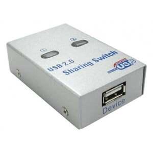 2 Port USB Automatic / Manual Printer Sharing Share Switch 2 Pcs Share 1 Printer