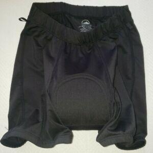 Zoic Bicycling Shorts Soild Black Padded Stretch Base layer Size Small.