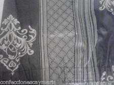 cortina satinada tonos gris media aproximada 1 x 1.85