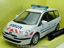 PEUGEOT 807 POLICE CAR 1/43RD SCALE WHITE/BLUE/RED COLOUR EXAMPLE BXD T3412Z(=)