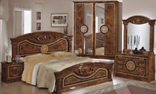 Roma Italian 6 Piece Bedroom in Walnut