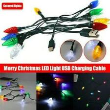 Merry Christmas Light LED USB Cable DCI Charger Lighting Cord For Cell Phone HOT