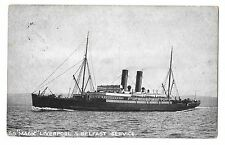 SS Magic, Liverpool & Belfast Service PPC, 1907 Burnley 5 PMK, to Blackpool