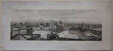 1880 circa MILANO panorama Giuseppe Giudici acquatinta non gouachata