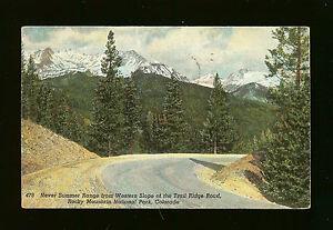 Never Summer Range -Rocky Mountain National Park, CO -Postmarked 1939 Estes Park