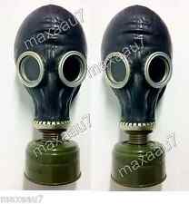 LOT OF 2 Black gas mask GP-5 size 3 LARGE