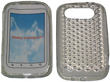 Pattern Soft Gel Jelly Case Protector Cover For HTC Wildfire S A510e G13 Clear