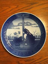 Cat and Christmas Rose 1970, Royal Copenhagen Christmas plate