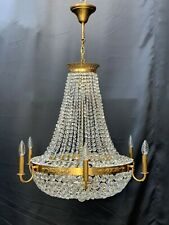 Very rare large old vintage antique crystal chandelier 12 lamp