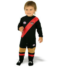AFL Toddler Baby Essendon Bombers Footysuit Jumpsuit Unisex