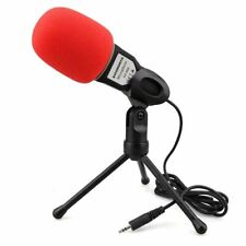 Condenser Microphone 3.5mm Jack Recording with Mic Stand for iPhone PC Laptop