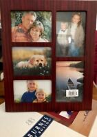 BURNES of BOSTON Large Collage Frame-5 Photos-Vertical/Horizontal Wall/Shelf NIB