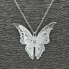 New Fashion Women Jewelry Silver Plated Openwork Butterfly Necklace Pendant