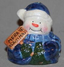 PORCELAIN SALT PEPPER SHAKER CHRISTMAS FIGURINE