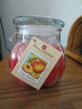 Home Interiors Contempo Candle Jar (Honey And Nectarine)-New 15.5 Oz
