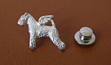 Sterling Silver Lakeland Terrier Angel Lapel Pin