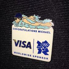 Visa Sponsor Pin Badge London Olympics 2012 Swimming Congratulation Michael