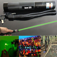 2016 Green Laser Pointer Adjustable Focus 1mw Pen 532nm Burning Beam Light Lazer