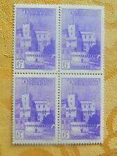 66-MONACO Bloc de 4 du n°279 6F violet vue de Monaco neuf sans charnières