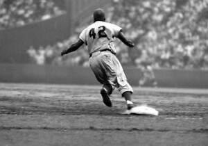 "Jackie Robinson - 11"" x 14"" Photo - 1955 - Brooklyn Dodgers - Ebbets Field"